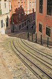 Funicular (Elevador) in Lisbon Royalty Free Stock Images
