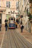 Funicular (Elevador) in Lisbon Royalty Free Stock Photography