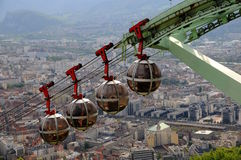 Funicular en Grenoble fotografía de archivo