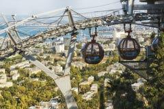 Funicular en Israel fotos de archivo