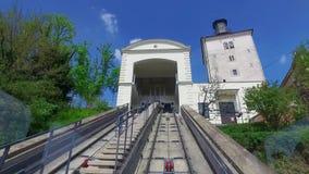 Funicular en la capital croata Zagreb