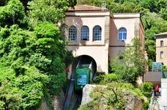 Funicular en la montaña Montserrat Imágenes de archivo libres de regalías