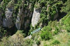 Funicular en la montaña Montserrat Imagen de archivo