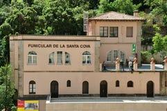 Funicular en la montaña Montserrat Fotos de archivo libres de regalías