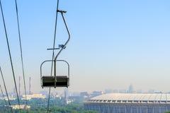 Funicular en las colinas del gorrión Foto de archivo libre de regalías