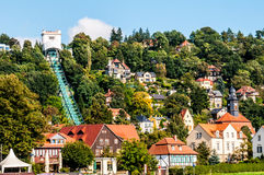 Funicular en Loschwitz Imagen de archivo libre de regalías