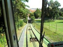 Funicular en Praga Imagenes de archivo