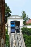 Funicular en Zagreb, Croacia Fotos de archivo