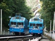 Funicular ferroviario en Kiev, Ucrania imagen de archivo libre de regalías