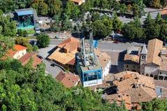 Funicular forteca San Marino Republika San Mar Zdjęcie Royalty Free