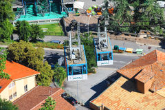 Funicular forteca San Marino Republika San Mar Obrazy Royalty Free