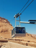 Funicular  in fortress Masada, Israel Royalty Free Stock Photos