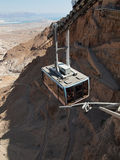 Funicular in fortress Masada, Israel Stock Photography