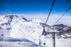 Funicular at French Alps Stock Photography