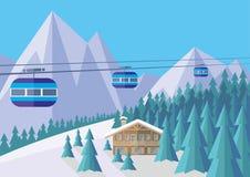 funicular góry Obraz Royalty Free