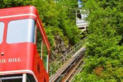 Funicular gata för liten vik för kull för Alaska uddräv royaltyfria bilder