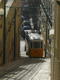 Funicular going up the slope Royalty Free Stock Photos