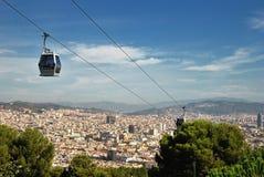 Funicular i widoku Barcelona Zdjęcia Stock
