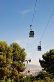 Funicular i widoku Barcelona Fotografia Royalty Free