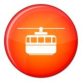 Funicular icon, flat style Stock Photography