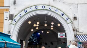 The Funicular on the Island of Capri royalty free stock photo