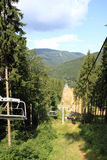 Funicular in jeseniky mountains Stock Photography