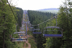 Funicular in jeseniky mountains Royalty Free Stock Photo