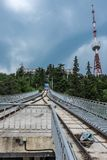 Funicular kolej Tbilisi Gruzja Europa Obraz Royalty Free