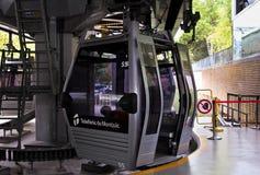 Funicular a la montaña Montjuic Imagen de archivo libre de regalías