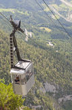 Funicular. landscape with a cable car in Alps Royalty Free Stock Images