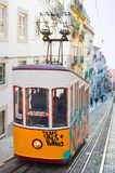 Funicular in Lisbon, Portugal Royalty Free Stock Images