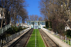 Funicular of Montmartre in Paris Royalty Free Stock Image