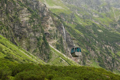 Funicular in mountain of Alps Stock Photography