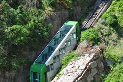 Funicular on mountain Montserrat Stock Image