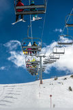 Funicular at the mountain, ski resort Royalty Free Stock Photography