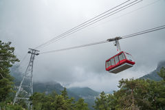 Funicular in the mountains Stock Photo