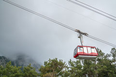 Funicular in the mountains Stock Images