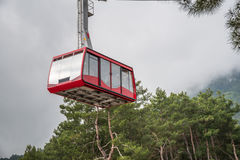 Funicular in the mountains Royalty Free Stock Photo