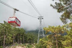 Funicular in the mountains Stock Photography