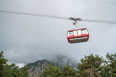 Funicular in the mountains Royalty Free Stock Photography