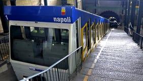 Funicular Naples royaltyfri foto