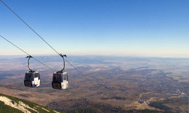 Funicular nas montanhas Foto de Stock