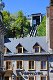Funicular of Old Quebec City Stock Photos