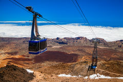 Free Funicular On A Cableway To The Volcano Teide Stock Photo - 84697230