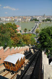 Funicular Palace Railway in Budapest. Photo of Budapest, view from Buda Castle funicular Royalty Free Stock Photos