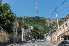 Funicular Powikłany Tbilisi Gruzja Europa Obraz Stock