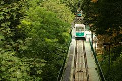 Funicular in prague Royalty Free Stock Photography