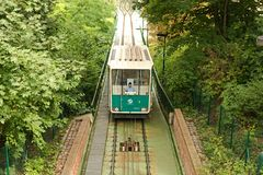 Funicular in prague Royalty Free Stock Image