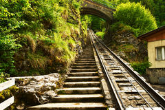 Funicular rail near Reichenbach Stock Photography