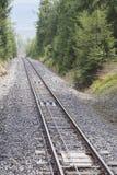 Funicular rails. Royalty Free Stock Image